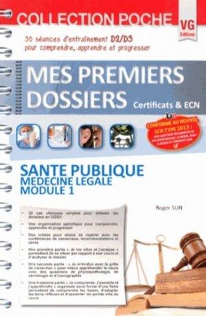Santé publique Médecine légale Module 1 - vernazobres grego - 9782818309346 -