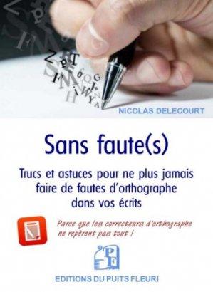 Sans faute(s) - puits fleuri - 9782867396489 -