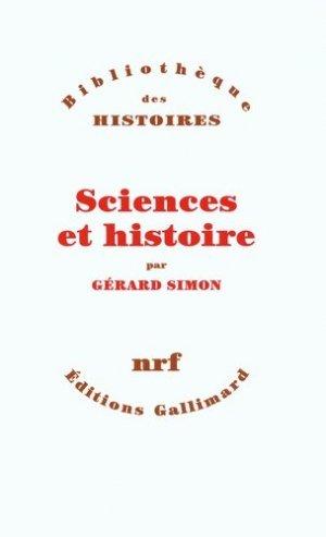 Sciences et histoire - gallimard editions - 9782070784776 -