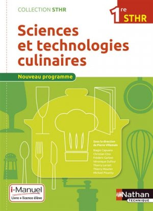 Sciences et technologies culinaires 1re STHR-nathan-9782091640372