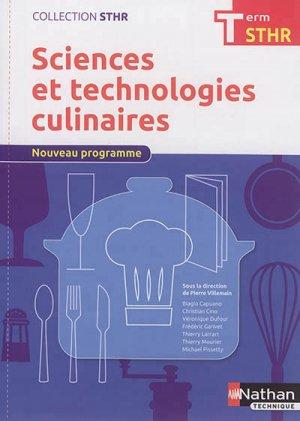 Sciences et technologies culinaires Tle STHR-nathan-9782091648132