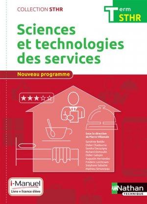 Sciences et technologies des services Tle STHR - nathan - 9782091648156
