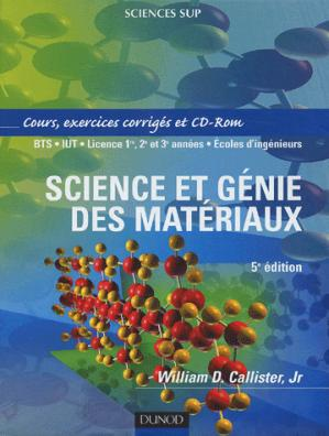 Science et génie des matériaux - dunod - 9782100070923 -