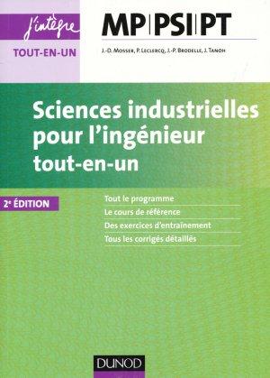 Sciences industrielles pour l'ingénieur MP, PSI, PT - dunod - 9782100752157