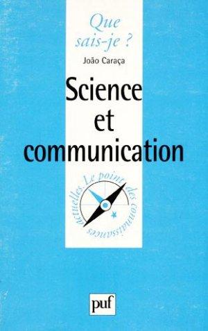 Science et communication - puf - presses universitaires de france - 9782130502616 -
