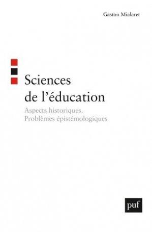 Sciences de l'éducation - puf - presses universitaires de france - 9782130559344 -
