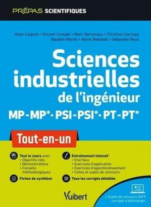 Sciences industrielles de l'ingénieur MP/MP PSI/PSI PT/PT - Vuibert - 9782311407419 -