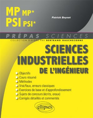 Sciences industrielles de l'ingénieur MP, PSI - ellipses - 9782340027657 -