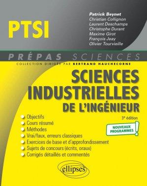 Sciences industrielles de l'ingénieur PTSI - Nouveaux programmes - 3e édition - ellipses - 9782340048492 -