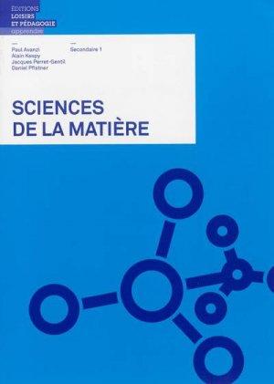 Sciences de la matière - lep - loisirs et pedagogie (suisse) - 9782606013271 -