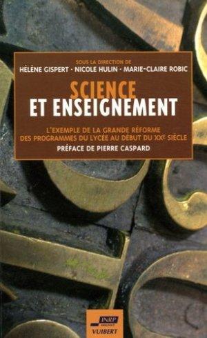Science et enseignement - Vuibert - 9782711789818 -