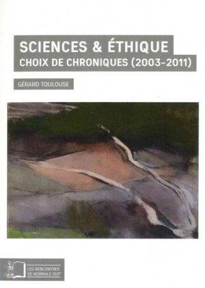 Sciences ; Éthique - rue d'ulm - 9782728805617 -