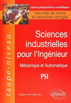 Sciences industrielles pour l'ingénieur - ellipses - 9782729860127 -