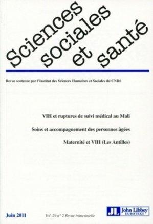 Sciences Sociales et Santé Volume 29, N°2, Juin - John Libbey Eurotext - 9782742008155 -