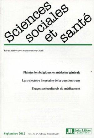 Sciences Sociales et Santé Volume 30 N° 3, septembre 2012 - John Libbey Eurotext - 9782742008339 -