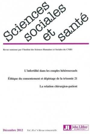 Sciences Sociales et Santé Volume 30 N° 4/2012 - John Libbey Eurotext - 9782742008346 -