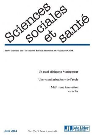 Sciences Sociales et Santé Volume 32 N° 1/2014 - John Libbey Eurotext - 9782742013692 -