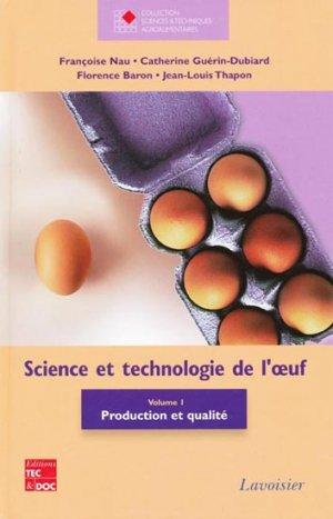 Science et technologie de l'oeuf Vol 1 - lavoisier / tec et doc - 9782743012236 -