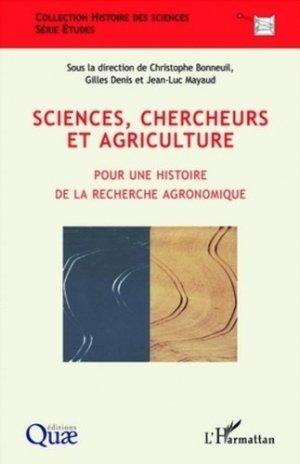 Sciences, chercheurs et agriculture - quae - 9782759202744 -