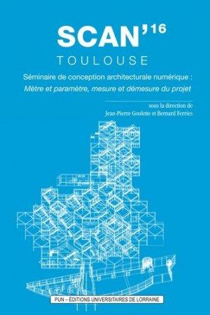 SCAN'16 Toulouse - presses universitaires de nancy - 9782814302891 -
