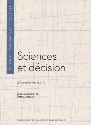 Sciences et décision - Presses Universitaires de Franche-Comté - 9782848675312 -