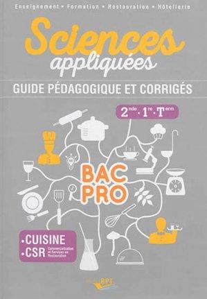 Sciences appliqu es bac pro sde 1 re term collectif for Sciences appliquees cap cuisine