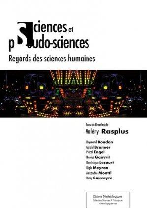 Sciences et pseudo-sciences - materiologiques - 9782919694709 -