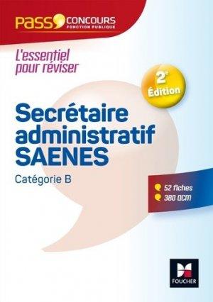 Secrétaire administratif  SAENES. 2e édition - Foucher - 9782216148080 -