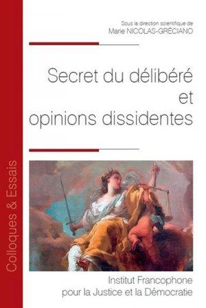 Secret du délibéré et opinions dissidentes - Fondation Varenne - 9782370322609 -