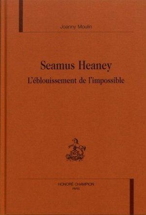 Seamus Heaney - Honoré Champion - 9782745300447 -