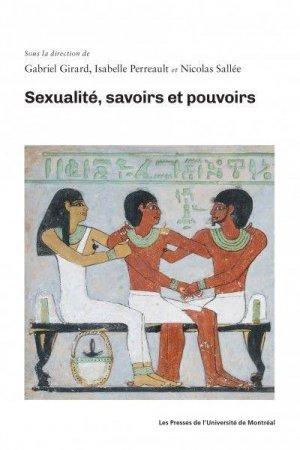 Sexualité, savoirs et pouvoirs - presses de l'universite de montréal - 9782760640894 -
