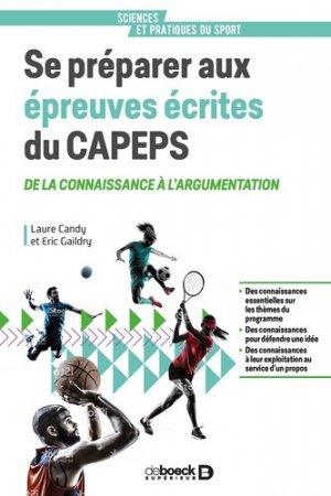 Se préparer aux épreuves écrites du CAPEPS - de boeck superieur - 9782807320468