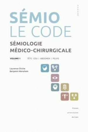 Sémio Le code - presses universitaires de caen - 9782841333868 -