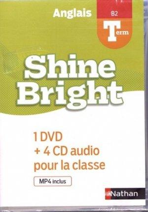 Shine bright terminale - coffret 3cd + 1 dvd - nathan - 9782098763104 -