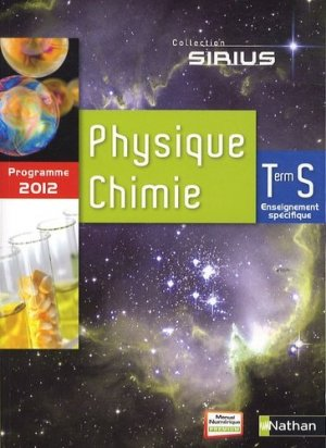Sirius Physique Chimie Tle S - Nathan - 9782091723761 -