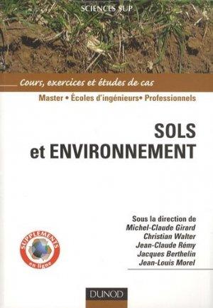 Sols et environnement - Dunod - 9782100516957 -
