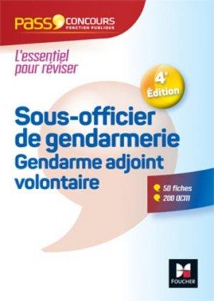 Sous-officier de gendarmerie Gendarme adjoint volontaire. 4e édition - Foucher - 9782216148943 -