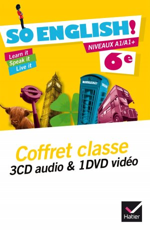 So English! Anglais 6e éd. 2015 - Coffret CD audio classe + DVD vidéo - hatier - 9782218987212 -
