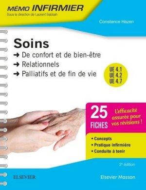 Soins de confort et de bien-être - Soins relationnels - Soins palliatifs et de fin de vie - elsevier / masson - 9782294757686