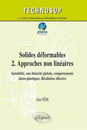 Solides déformables - Tome 2, Approches non linéaires - ellipses - 9782340002623 -