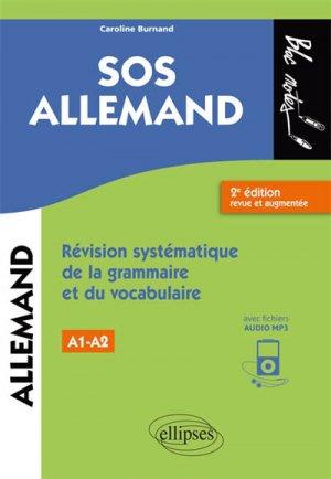 SOS allemand, niveau 1 / révision systématique de la grammaire et du vocabulaire - ellipses - 9782340026438