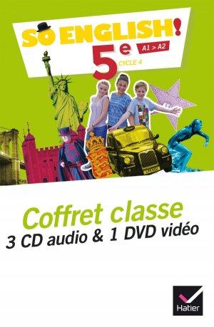So English! 5e (2017) : Coffret Classe 3CD Audio et 1 DVD Vidéo - hatier - 9782401025639 -