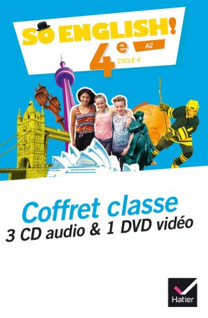 So English! 4e (2017) : Coffret Classe 3 CD Audio et 1 DVD Vidéo - hatier - 9782401025646 -