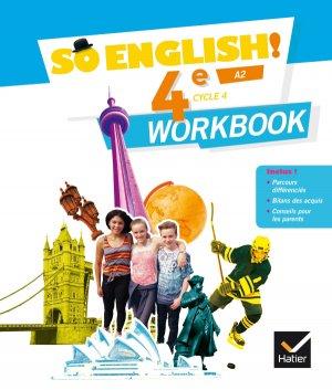 So English! 4e (2017) : Workbook - hatier - 9782401026766 -