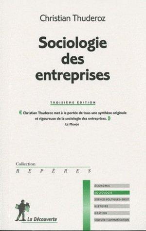 Sociologie des entreprises - la decouverte - 9782707166654 -