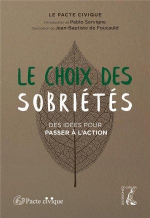 SobriétéS - Editions de l'Atelier - 9782708253681 -