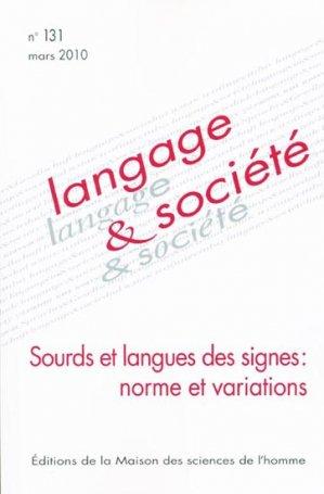 Sourds et langues des signes: norme et variations - maison des sciences de l'homme - 9782735112319 -