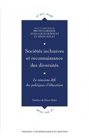 Sociétés inclusives et reconnaissance des diversités - presses universitaires de rennes - 9782753580787 -