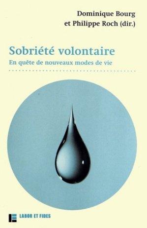 Sobriété volontaire - Labor et Fides - 9782830914610 -
