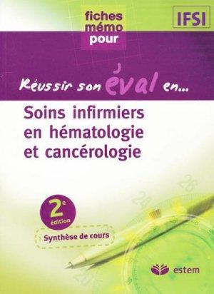 Soins infirmiers en hématologie et cancérologie - estem - 9782843714160 -